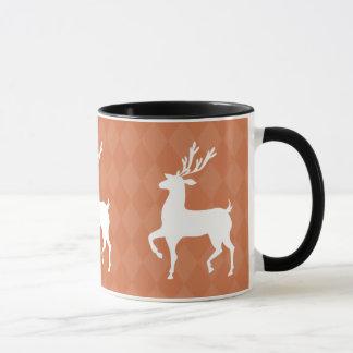 Orange Reindeer Christmas Mug