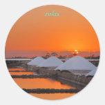 Orange relax classic round sticker