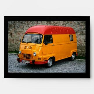Orange Renault Estafette Envelope