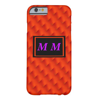 Orange Repeating Background Barely There iPhone 6 Case