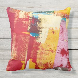 Orange Residue Pillow