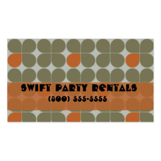 orange retro Double-Sided standard business cards (Pack of 100)
