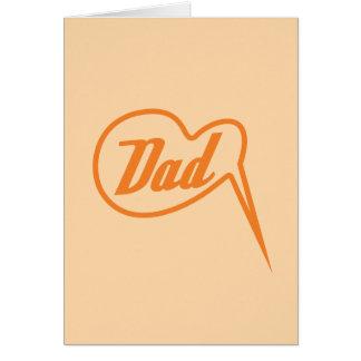 orange retro dad speech bubble greeting card