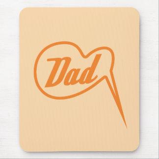 orange retro dad speech bubble mousepad