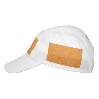 Orange Retro Floral Paisley Headsweats Hat