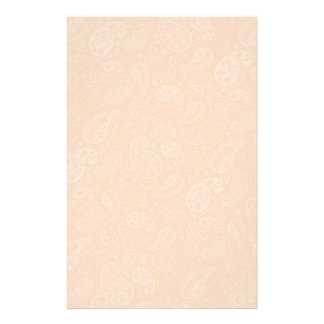Orange Retro Floral Paisley Stationery