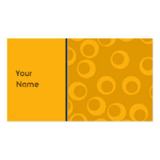 Orange retro pattern. business card