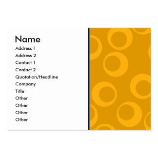 Orange retro pattern. large business card