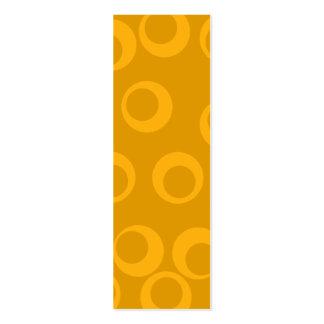 Orange retro pattern. mini business card