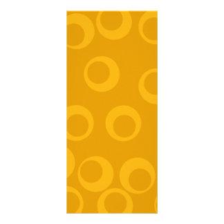Orange retro pattern. rack card