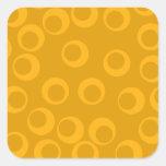 Orange retro pattern. stickers