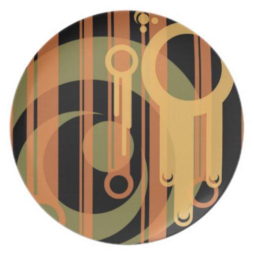Orange Retro Plate