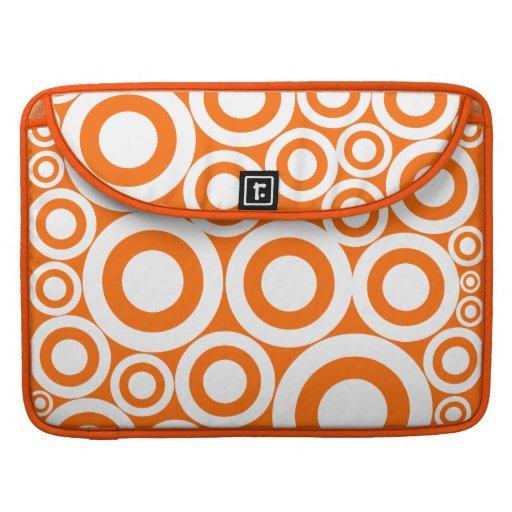 Orange Retro Rings Sleeve For MacBook Pro