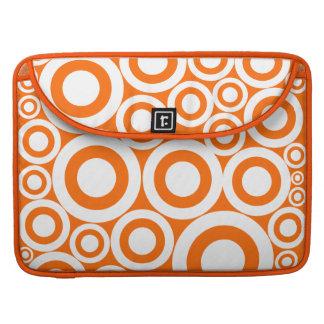 Orange Retro Rings Sleeve For MacBooks