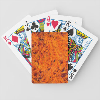 Orange Retro Rust Background Bicycle Playing Cards