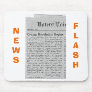 Orange Revolution News Flash Mouse Pads