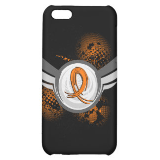Orange Ribbon And Wings MS Cover For iPhone 5C
