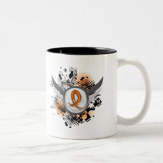 Orange Ribbon And Wings MS Coffee Mug