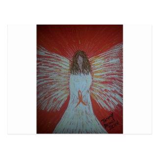 Orange Ribbon Angel.jpg Postcard