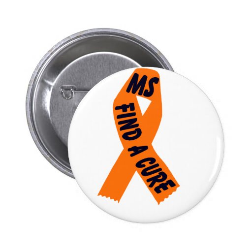 Orange Ribbon Awareness 2 Inch Round Button