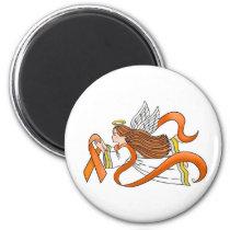 """Orange Ribbon"" Awareness Angel Magnet"