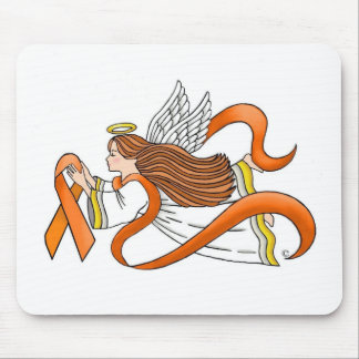 """Orange Ribbon"" Awareness Angel Mouse Pad"
