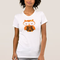 Orange Ribbon Awareness Owl T-Shirt