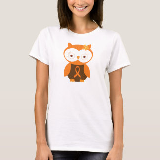 Orange Ribbon Awareness Owl T-Shirt