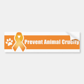 Orange Ribbon Bumper Sticker
