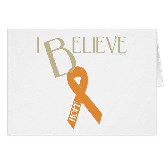 Orange Ribbon Card