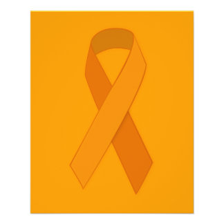 ORANGE RIBBON CAUSES ANIMALS MOTIVATIONAL SUPPORT PERSONALIZED FLYER