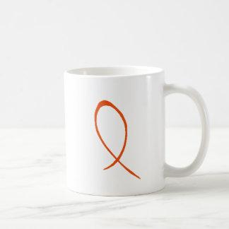 Orange Ribbon Customizable Mug