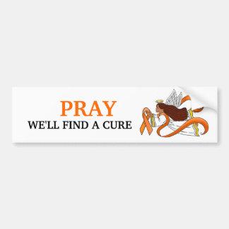 """Orange Ribbon"" Ethnic Awareness Angel Bumper Stickers"