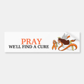 """Orange Ribbon"" Ethnic Awareness Angel Bumper Sticker"