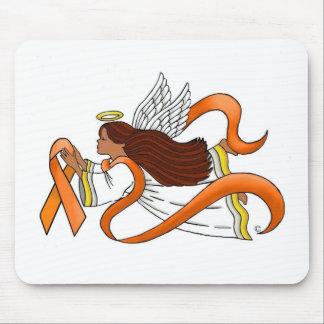 """Orange Ribbon"" Ethnic Awareness Angel Mouse Pad"