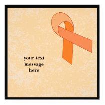 orange ribbon event invitation