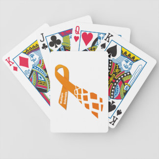 Orange Ribbon for Multiple Sclerosis Bicycle Playing Cards