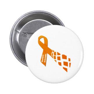 Orange Ribbon for Multiple Sclerosis Button