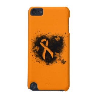 Orange Ribbon Grunge Heart iPod Touch (5th Generation) Case