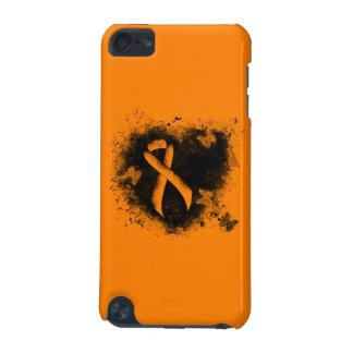 Orange Ribbon Grunge Heart iPod Touch (5th Generation) Case