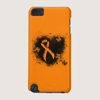 Orange Ribbon Grunge Heart iPod Touch 5G Case