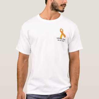 orange ribbon, HEROES COME IN ALL SIZES T-Shirt