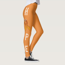 ORANGE RIBBON HOPE LEGGINS by OASOTA Leggings
