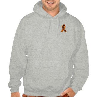 orange ribbon ms hoodie
