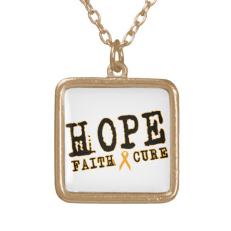 Orange Ribbon necklace MS Leukemia RSD awareness