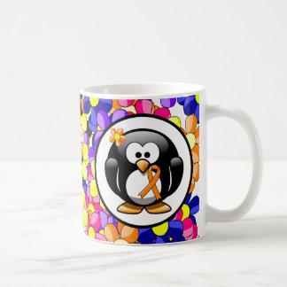 Orange Ribbon Penguin Coffee Mug