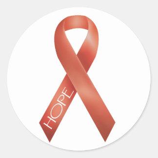 Orange Ribbon Sticker