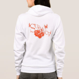 orange ribbon Survivor hoody jacket