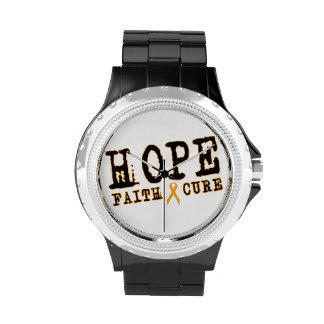 Orange Ribbon watch RSD Leukemia Hope faith cure