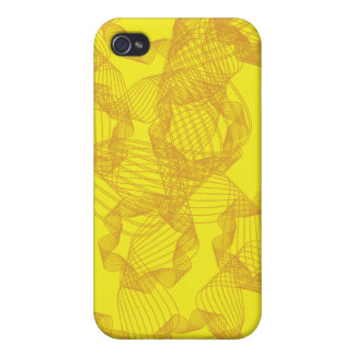 orange ribbone and yellow background iPhone 4/4S case